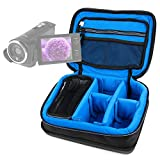 DURAGADGET Bolsa Acolchada Profesional Negra con Compartimentos para Videocámara ESDY 720P | inkint 16x Full HD | Panasonic HC-V180EC-K | HC-V180EG-K Full HD | HC-VX980EG-K