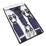 YaoDgFa Hosenträger für Herren breit extra starken 4 cm mit 6er Clips Y-Form lange für Männer und Damen Hose alle Farben