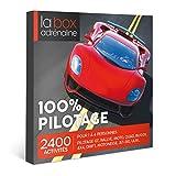 LA BOX ADRENALINE - Coffret Cadeau - 100 POURCENT PILOTAGE - 2400 Activités : Stage de Pilotage (Ferrari, Lamborghini, Porsche, Mustang, Formule 1…)...
