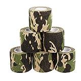 6 Stück Pflasterverband Kohesive Selbsthaftende Bandagen In Verschiedenen CAMOUFLAGE-Mustern Elastischer Fixierverband 5 CM Breite 4