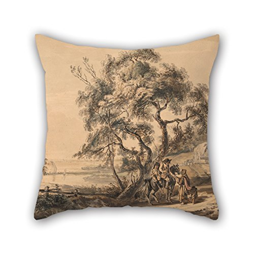 beautifulseason Oil Painting Paul Sandby - The Gypsy Fortune-Teller Pillow Cases 20 X 20 Inches/50 by 50 cm for Home Office,Club,Kids Girls,Boys,her,Car Seat with Two Sides