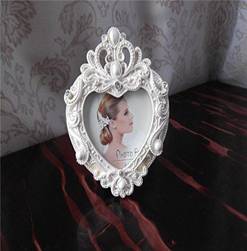 XBR Marco clasico europeo de resina, resina marco de fotos, decoración del hogar, matrimonio...