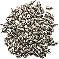100 x Clavos de acero inoxidable para cross-country, plata, 3 mm