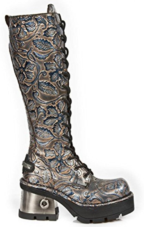 New Rock Boots M.236-C4 Gothic Hardrock Punk Damen Stiefel Kupfer