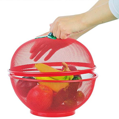 PANGUN Apple Shape Mesh Fresh Fruits Storage Drain Basket Flies Insekten Out Storage Baskets Filter