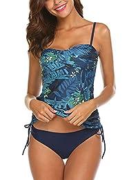 fcc368dc3938 AYEEBOOY Femme Tankini Bikini Maillot de Bain 2 pièces Sexy Mode avec Bikini  Grande Taille