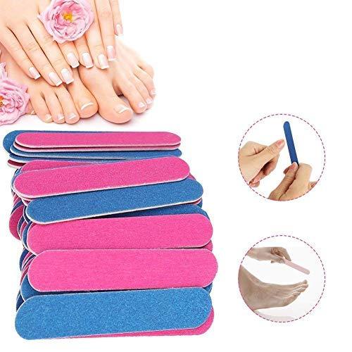Lima per Unghie, 50 PCS Trimmer per unghie Nail File Double Sided Bordo per Smeriglio Strumenti per Unghie Professionali Trimmer per Unghie Trimmer Set per Manicure Pedicure Cura delle Unghie