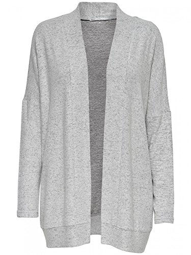 ONLY Damen Strickjacke Onlkleo L/S Open Cardigan Knt Noos Grau (Dark Grey Melange)