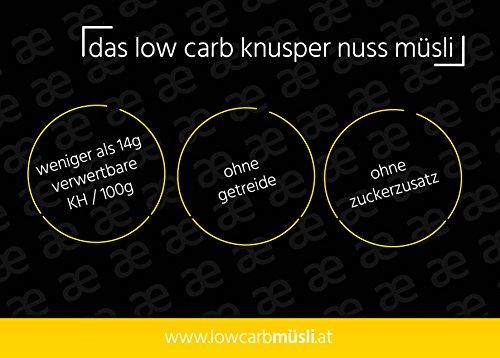 geNUSS[explosion] Low Carb Knusper Nuss Müsli 375g - 6