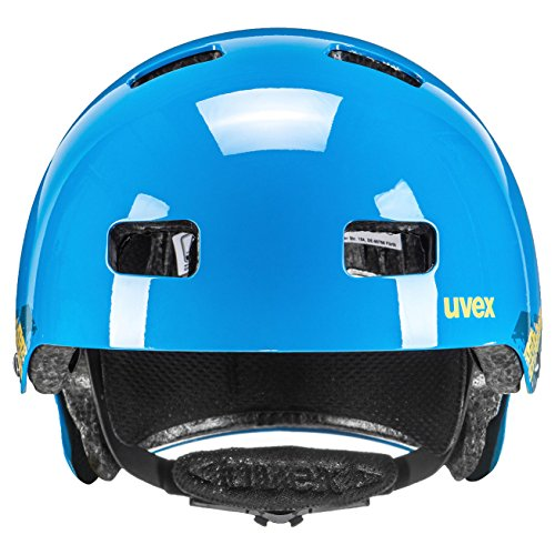 Uvex Kinder Fahrradhelm Kid 3, Blackout Blue, 51-55, 4148190715 - 4