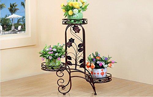 DFHHG® Porte-fleurs, plancher en bois de style européen Salon intérieur et extérieur Porte-pot à fleurs étagère de pots 60 × 24 × 69cm Support de fleur américain ( Couleur : #4 )