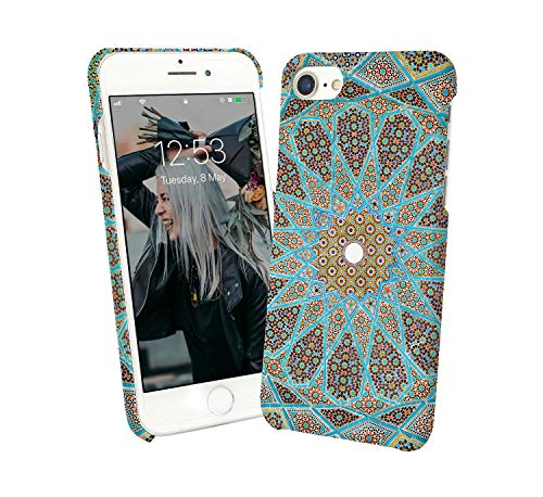 LumaCases Stars Suns Oriental Morocco Case for Compatible with Huawei P30 LIte Handyhulle Hülle SchutzCover Bumper Shell Protective Protection (Star Sun Industries)