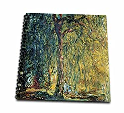 3dRose Picture of Monets Painting Weeping Willow - Mini Notepad, 4 by 4-Inch (db_80628_3)