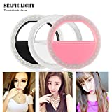 TiooDre 36-LED Smartphone selfie Light Ring Fülllicht Clip Batterie Operated auf iPhone 6 Plus 6s 5s Samsung Sony Motorola