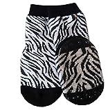 Ewers Baby- und Kindersocken, Stoppersocken, Antirutschsohle für Mädchen Zebra-Muster, Made in Europe, Anti-Rutsch, ABS