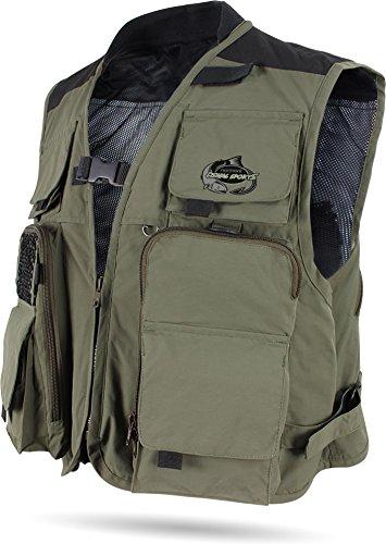 superleicht und Anglerweste mit vielen praktischen Taschen noorsk Jagd