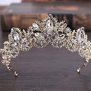 Simsly Hochzeits-Diadem, Braut-Blumen-Krone für Damen, HG-25