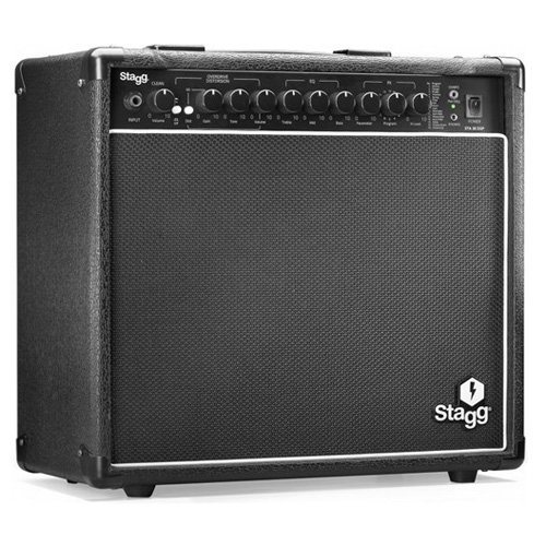 Stagg 22123 STA30 DSP EU E-Guitarren Verstärker 2-Kanal Gitarren Combo (30 Watt)