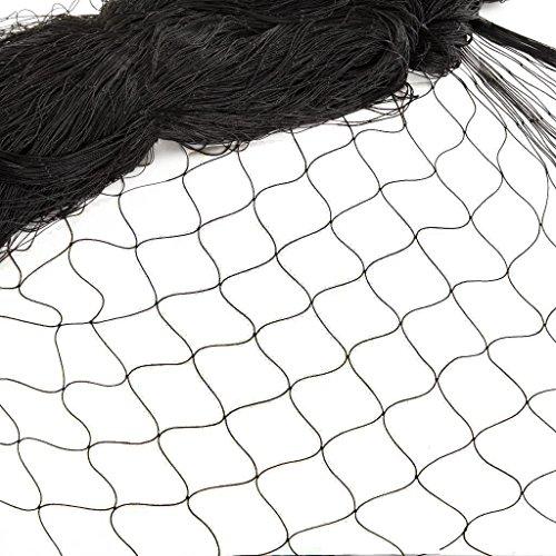12 * 4M Filet de Protection Oiseaux Anti-Feuilles Anti-Oiseaux Clôture pour Animaux et Plantes Jardin Pigeon Agriculture Volaille Jardin Élevage Arbre fruiter Balcon Bassin Maillage Maille 2,5cm