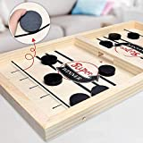 Birthday Popper Super Fast Sling Puck Game, Portable Table Board Game for Kids and Adults, Tabletop Slingshot Games Toys for Boys and Girls, Desktop Sport Board Game for All Age Group