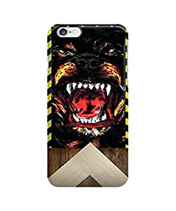 Coque iPhone 6 - Givenchy Rottweiler Face wood print geometric