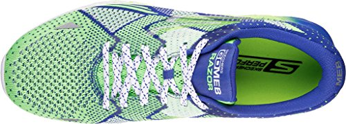 Skechers Mens Go Meb Razor Breathable Cushioned Track Running Shoes Green / Blue