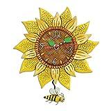 Enesco Allen Designs Horloge, Tournesol, 28cm, Résine, Multicolore, 28x 25,5x 28cm