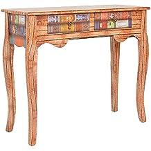 ts-ideen Consola mesa escritorio aparador cómoda diseño de libro aspecto de madera estilo antiguo para el pasillo, sala de estar, oficina