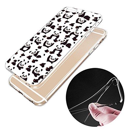 Iphone 7 7plus Hülle Panda Silikon TPU Schutzhülle Ultradünnen Case für iPhone 7/7plus panda29