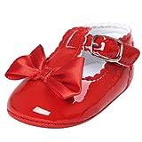 FNKDOR Baby Mädchen Bowknot Prinzessin Weiche Sohle Schuhe Kleinkind Turnschuhe Freizeitschuhe(06-12 Monate,Rot)