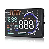 ZJEGO HUD Head Up Display, Speeding Warning Windshield Project System with 5.5 inch Big Screen for Car with OBD2 & EUOBD Port