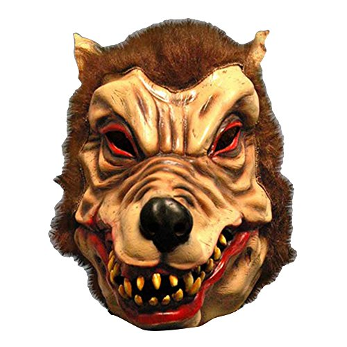Scream Machine Wolfman Latex Halloween Mask (One Size) (Brown)  available at amazon for Rs.1812