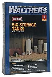 Walthers Cornerstone N Scale Modulars? Storage Tanks pkg(6)