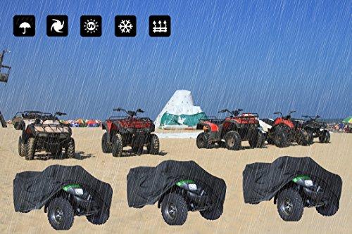Housse de Protection Quad ATV Couverture Etanche Quad, Soleil Pluie UV Dune Buggy/ Convient à la Plupart des Types de Quad ATV XL