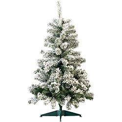 infactory Künstlicher Christbaum: Künstlicher Weihnachtsbaum im Schneedesign, 120 cm, 199 PVC-Spitzen (Dekobaum)