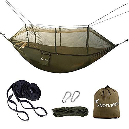 Sportneer Camping Hängematte mit Moskitonetz, Fallschi… | 06970396477646
