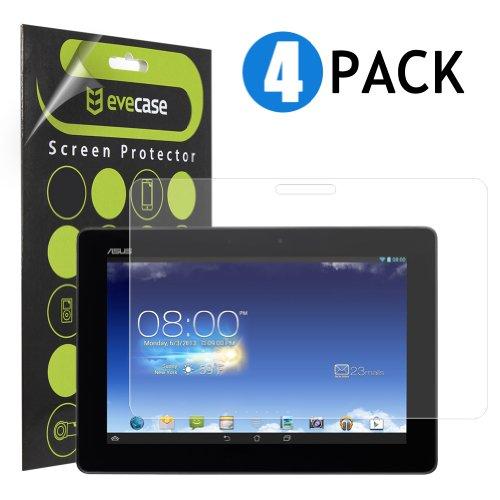 Foto Evecase Pellicole Protettive di Schermo di PET per Asus MemoPad FHD10 FHD 10 ME302C 10.1 Android Tablet - Pacchetto di 4-2 trasparente normale e 2 antiriflesso