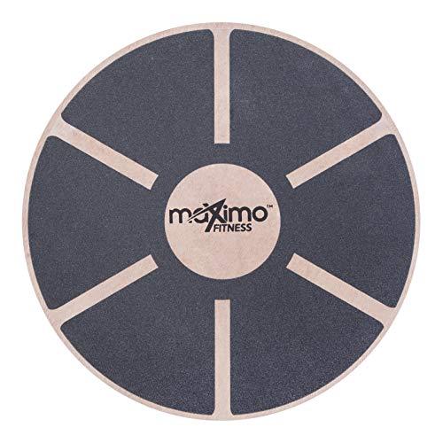 Maximo Fitness - Tabla de Equilibrio balanceadora de Madera - Producto para Realizar Ejercicios de Estabilidad y Equilibrio.