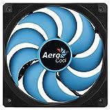 Aerocool Motion 12 Plus - Ventilador para PC (12 cm, aspas Curvas, Almohadillas antivibración, rodamientos hidráulicos, 22 DBA), Color Negro