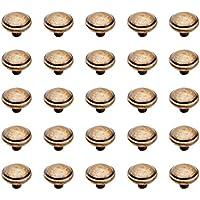 Emuca 9160008 Pomo para Mueble, Bronce, Ø32 mm, Set de 25 Piezas
