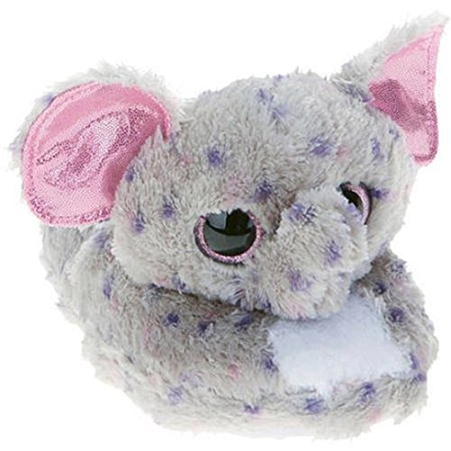 Beanie Boo Girls Slippers Faux Fur Specks Elephant Slip On (S-XL) Grey/Pink
