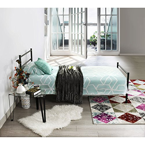Aingoo Single Metal Bed Frame in Black