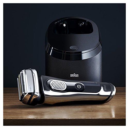 Braun Series 9 9295cc Rasoir Homme Électrique Wet & Dry et Système Clean&Charge - Chrome Premium