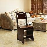 Scale accesso sottotetto Sedia pieghevole a doppia funzione in legno massello sedia multifunzione per schienale sedia per arrampicata in casa portata 100 kg Scale accesso sottotetto (Color : C)