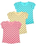 #4: Minnow Girls Heartin Printed Cotton Tshirt(Pack of 3 , 2-3 Yrs to 14-15 Yrs)