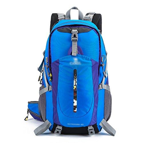zaino trekking Spalle all'aperto alpinismo sacchetto degli uomini e lo zaino di viaggio Donne che camminano Camping pacchetto di corsa Zaini da escursionismo ( Colore : B , dimensioni : 40L-49*31*23cm A