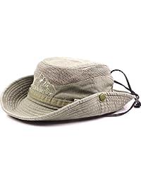 Obling Chapeau de Pêche Anti UV Respirant Séchage Rapide Casquette de Soleil Unisexe 2 Moyens pour Porter