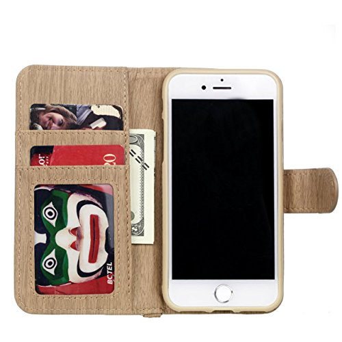 iPhone Case Cover Housse IPhone 7, modèle de tissage PU Housse en cuir de protection Case Wallet Stand avec des fentes pour cartes et cadre photo pour Apple IPhone 7 ( Color : 3 , Size : IPhone 7 ) 4