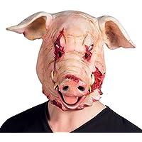 Boland - Maschera Maiale Horror Bloody Pig in Lattice Mens, Rosa, Taglia Unica, 97519