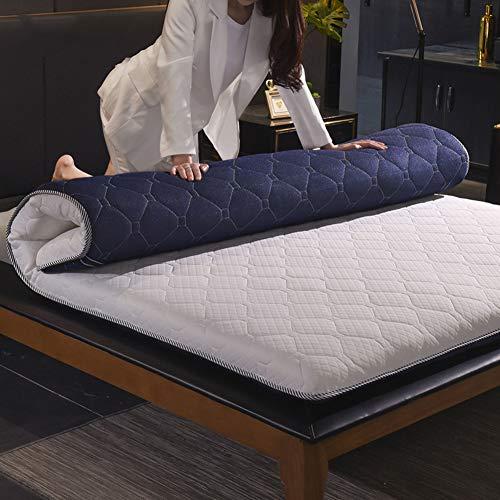 WJH Memory-Foam-matratze verdicken, Japanisches Tatami futon-matratze, Doppelseitige verfügbar Atmungsaktive Antibakteriell Anti-milben Schlafen pad-Blau 150x200cm(59x79inch)